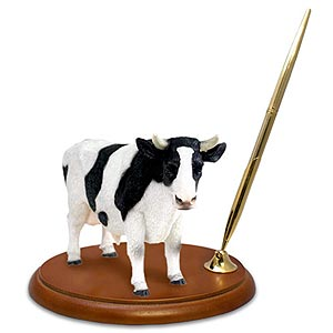 Cow Pen Holder (Holstein Bull)