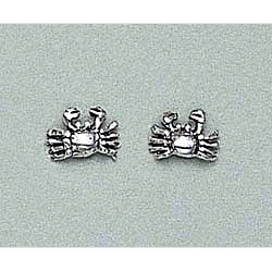 Crab Earrings Sterling Silver