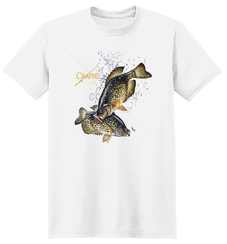Crappie T Shirt Swimming For Bait