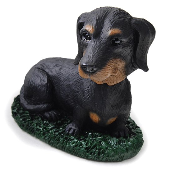 Dachshund Bobblehead Black-Tan