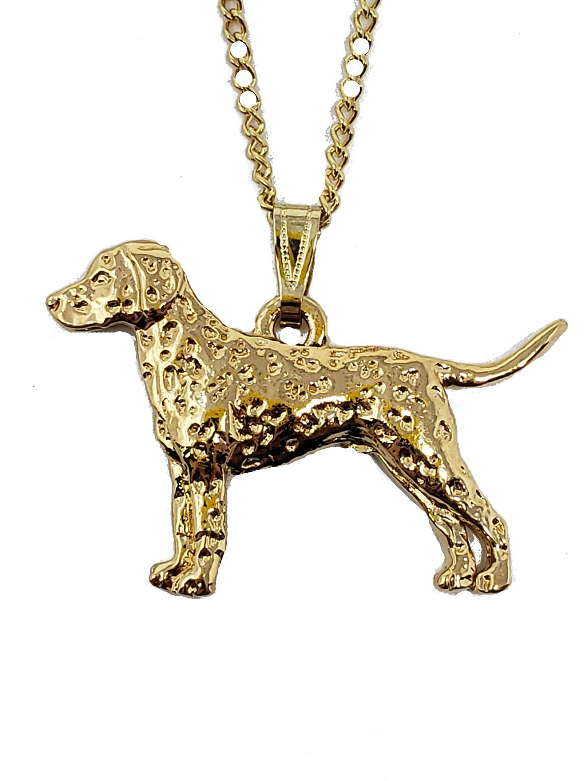 Dalmatian 24K Gold Plated Pendant with Necklace