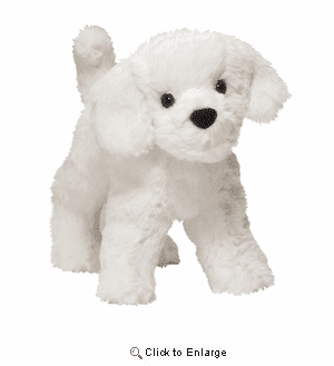 """Dandelion Puff""  Bichon Plush 8 Inch by Douglas Toy"