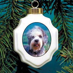 Dandie Dinmont Christmas Ornament Porcelain