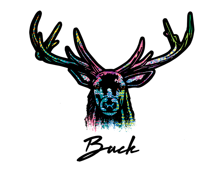 Deer T Shirt Colorful Abstract