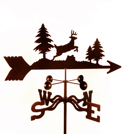 Deer Weathervane Jumping