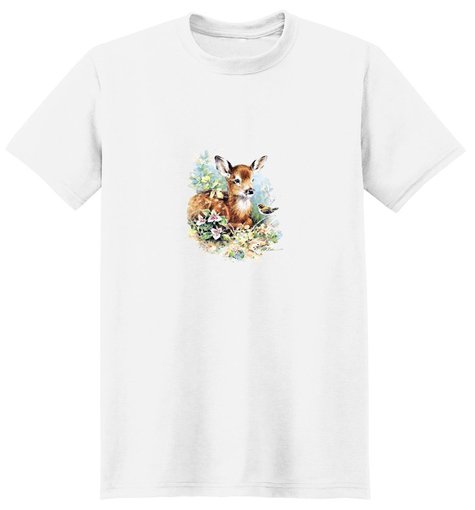 Deer with Bird T-Shirt