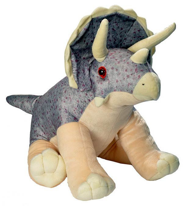 Wild Republic Triceratops Plush, Dinosaur Stuffed Animal, Plush Toy, Gifts For Kids, Cuddlekins 12