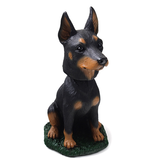 Doberman Pinscher Bobblehead Black-Tan