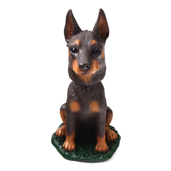 Doberman Pinscher Bobblehead Red