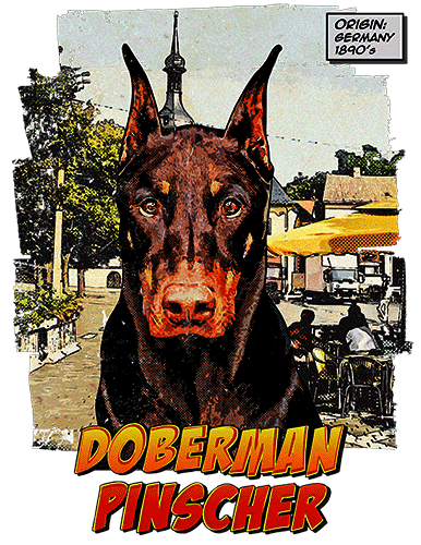 Doberman Pinscher T-Shirt Ancestryr Cropped