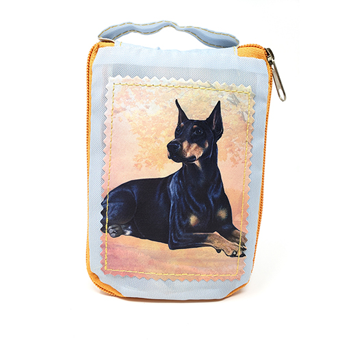 Doberman Pinscher Tote Bag - Foldable to Pouch
