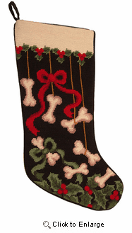 Dog Bone Christmas Stocking