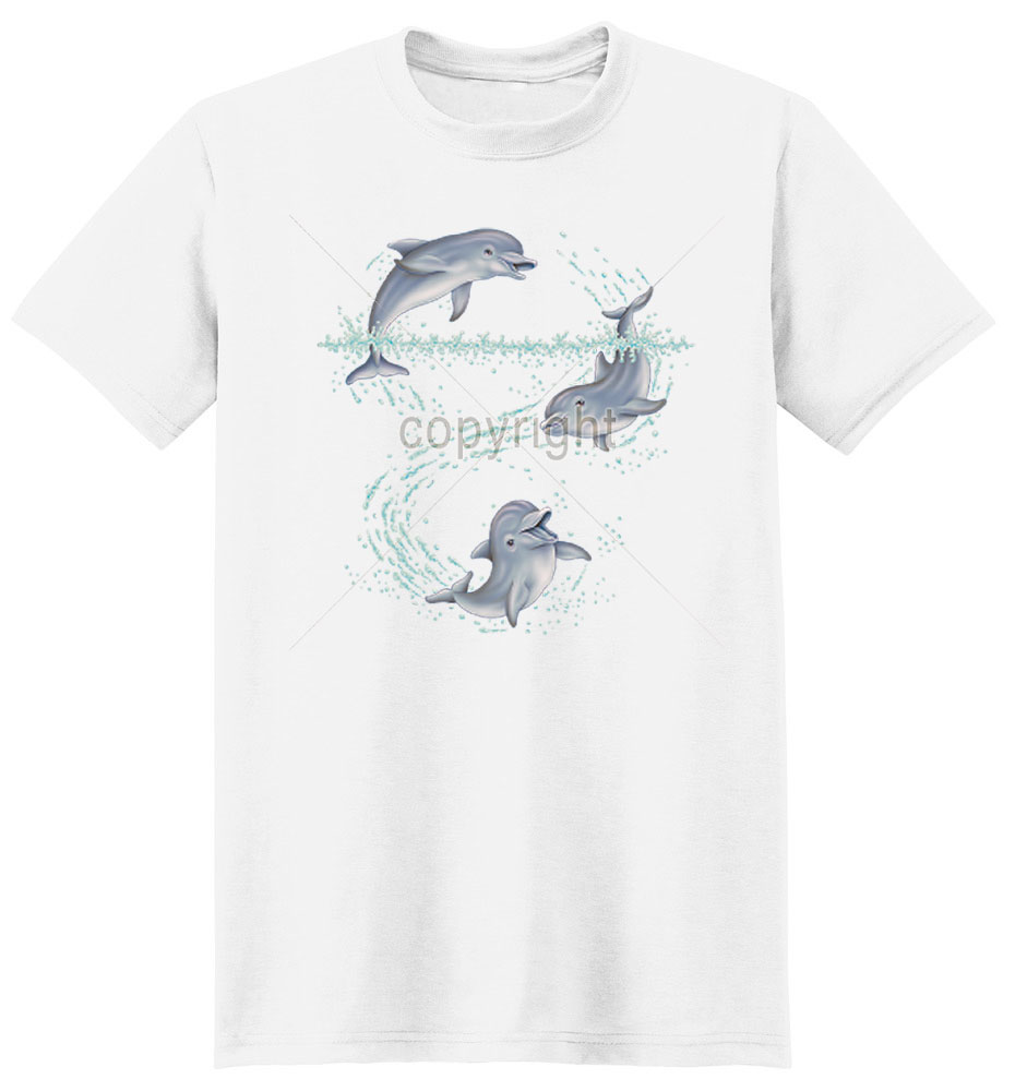 Dolphin T Shirt Having Fun