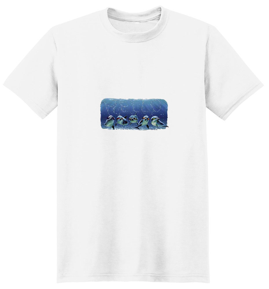 Dolphin T- Shirt with Glasses