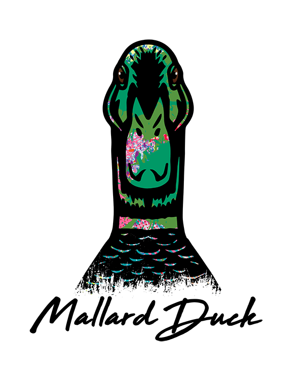 Duck T Shirt Colorful Abstract