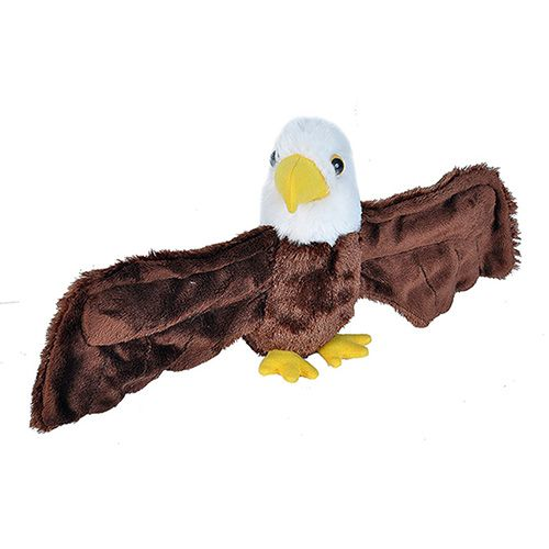 Wild Republic Huggers Bald Eagle Plush Toy, Slap Bracelet,  8
