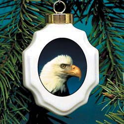 Eagle Christmas Ornament Porcelain