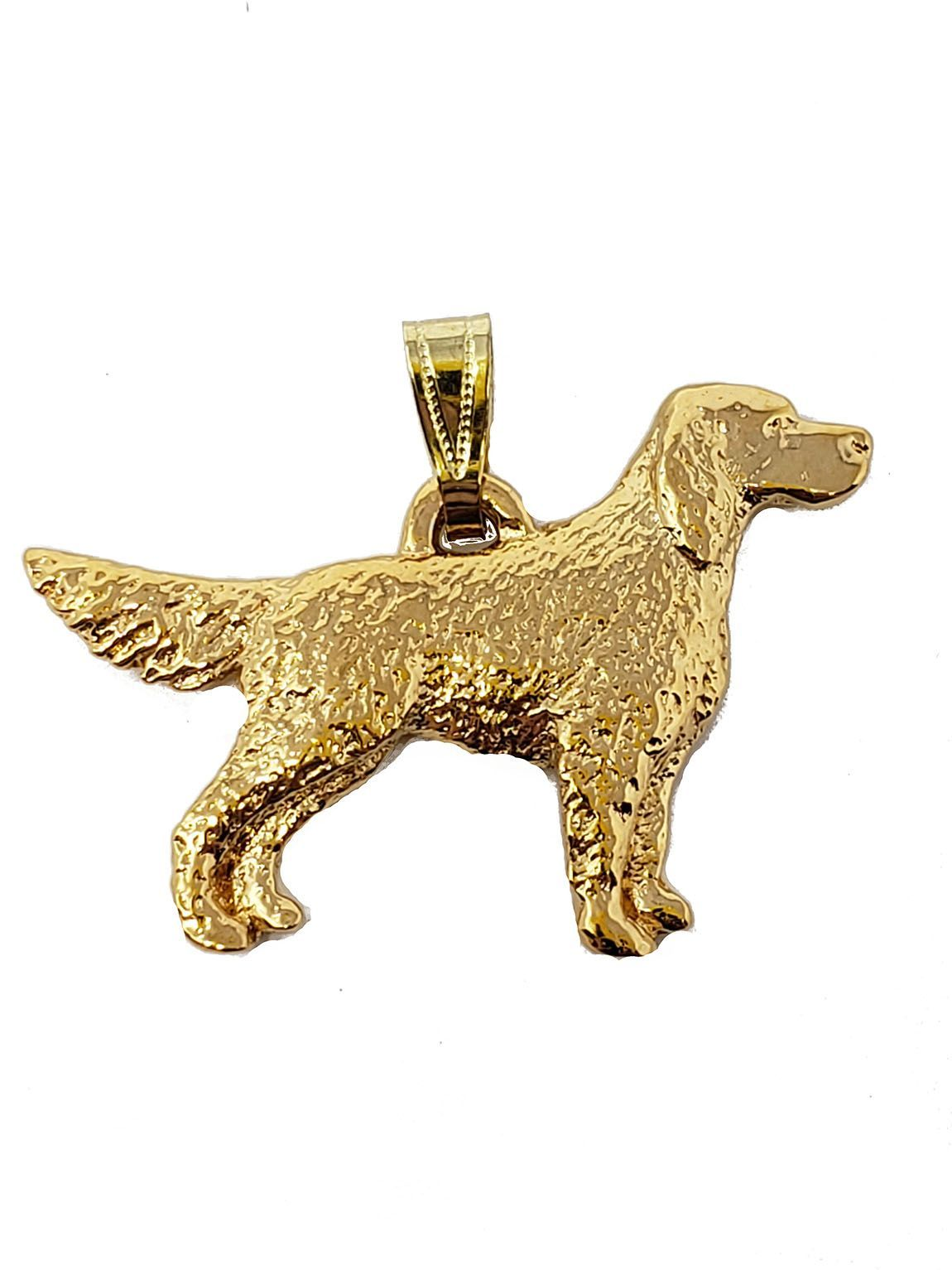 English Setter 24K Gold Plated Pendant