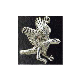 Falcon Sterling Silver Charm