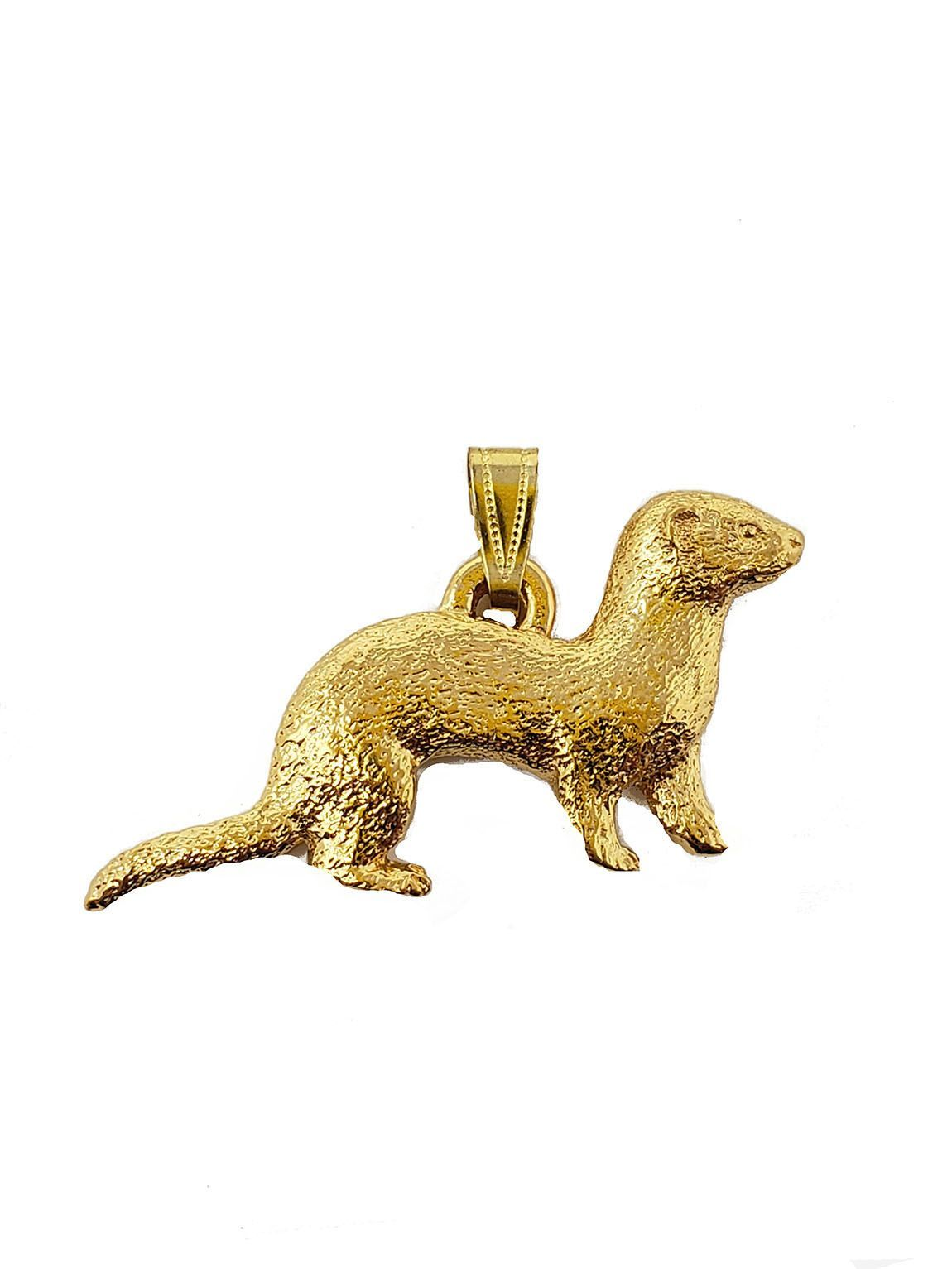 Ferret 24K Gold Plated Pendant