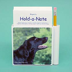 Flat-Coated Retriever Hold-a-Note