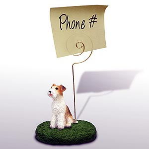 Fox Terrier Note Holder (Wire Haired)