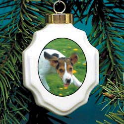 Foxhound Christmas Ornament Porcelain