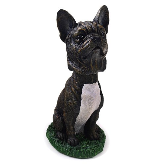French Bulldog Bobblehead Black-White