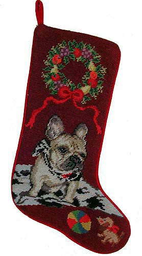 French Bulldog Christmas Stocking