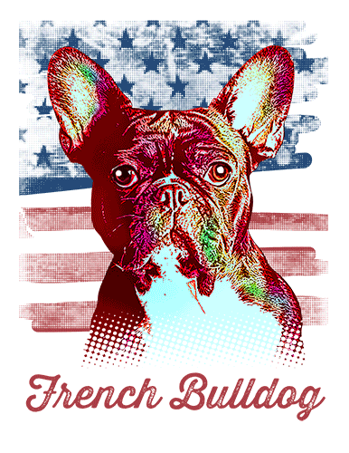 French Bulldog T Shirt American Flag
