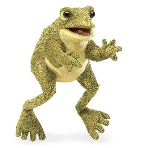 Folkmanis Funny Frog Hand Puppet Plush 12