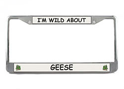 Geese License Plate Frame