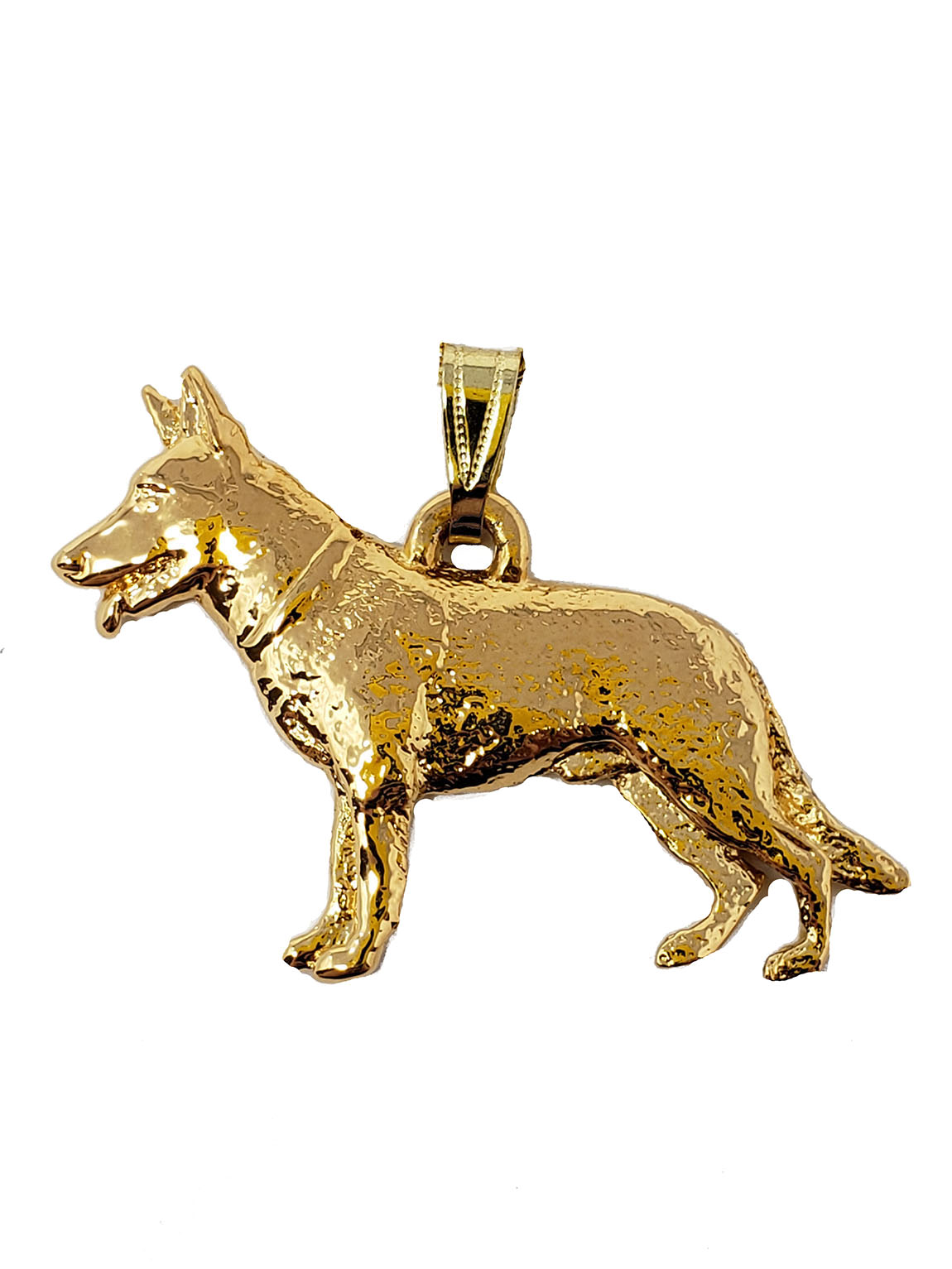 German Shepherd 24K Gold Plated Pendant