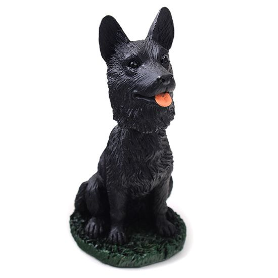 German Shepherd Bobblehead Black