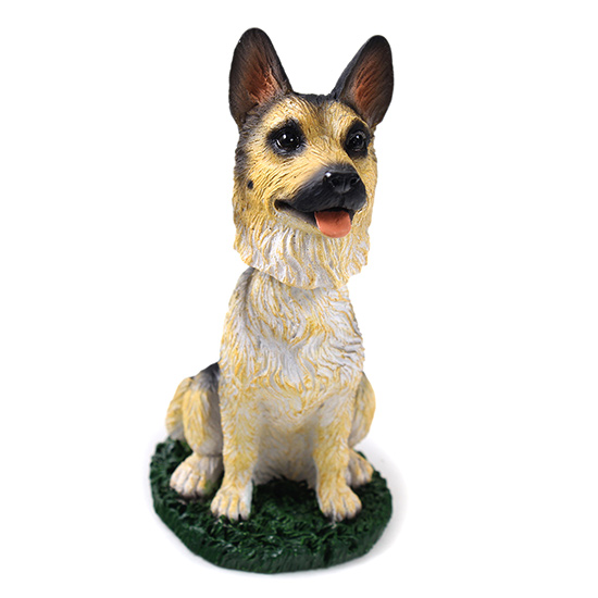 German Shepherd Bobblehead Tan-Black