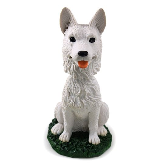 German Shepherd Bobblehead White