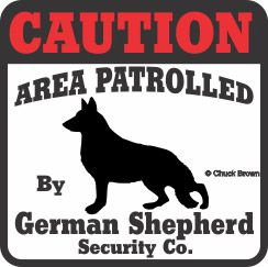 German Shepherd Bumper Sticker Caution
