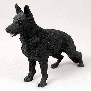 German Shepherd Figurine Black