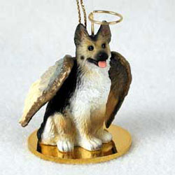 German Shepherd Christmas Ornament Angel