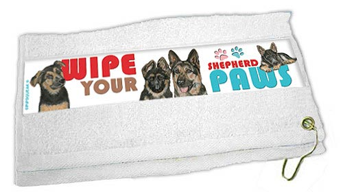 German Shepherd Paw Wipe Towel