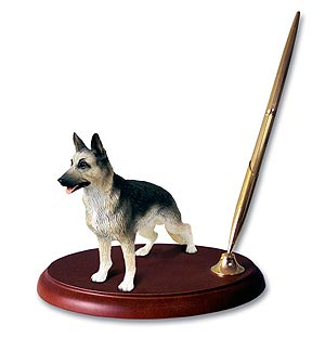German Shepherd Pen Holder