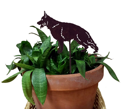 German Shepherd Plant Stake