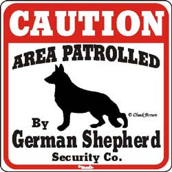 German Shepherd Caution Sign