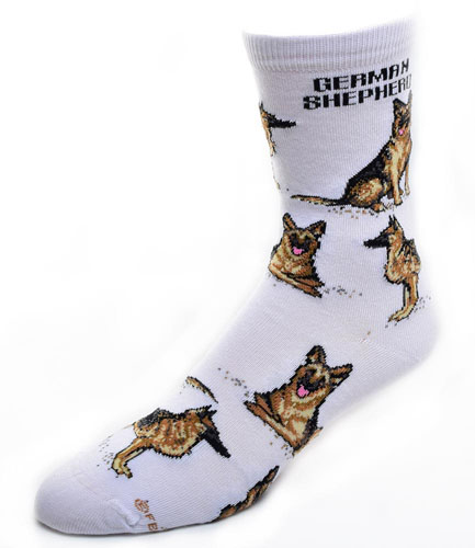 German Shepherd Socks Poses 2