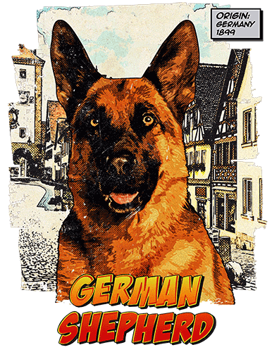 German Shepherd T-Shirt Ancestry