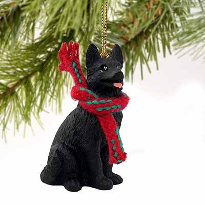 German Shepherd Tiny One Christmas Ornament Black