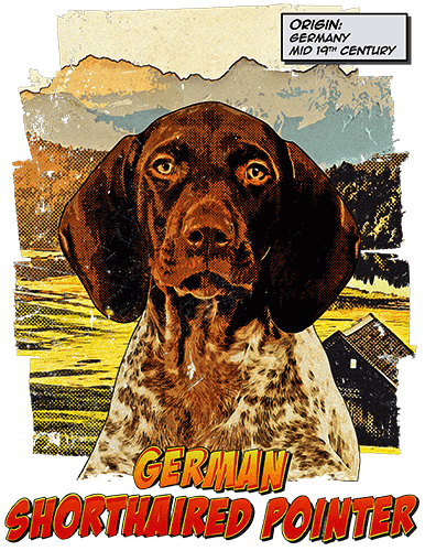 German Shorthaired Pointer T-Shirt Ancestry