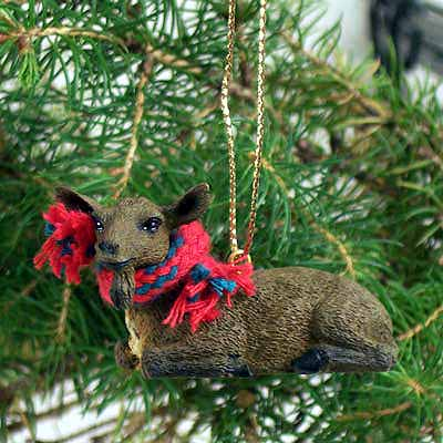 Goat Tiny One Christmas Ornament Brown