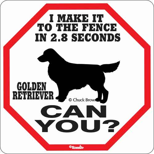 Golden Retriever 2.8 Seconds Sign