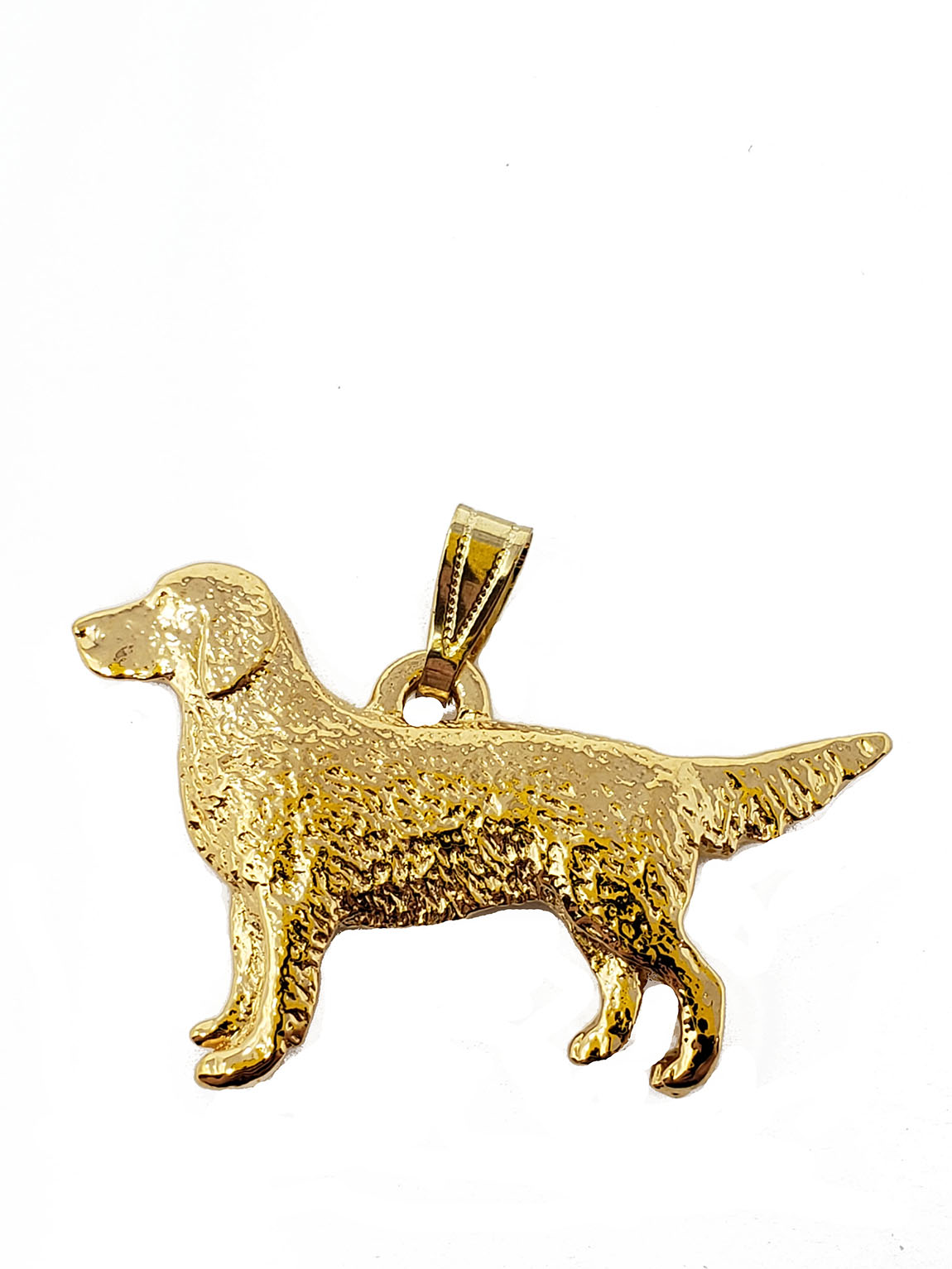 Golden Retriever 24K Gold Plated Pendant